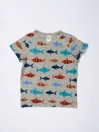 Multi Colored Printed Round Neck Baby Boy T-Shirt