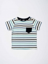 Multi Colored Striped Round Neck Baby Boy T-Shirt