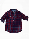 Red & Blue Check Baby Boy Casual Shirt