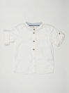 White Solid Baby Boy Casual Shirt