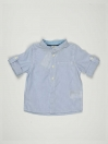 White & Blue Striped Baby Boy Casual Shirt