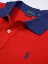 Big Kids - Cotton Mesh Polo Shirt - Red
