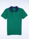 Big Kids - Cotton Mesh Polo Shirt - Green