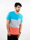 Multi Colored Round Neck T-Shirt for Men