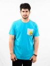 Aqua Printed Round Neck T-Shirt for Men