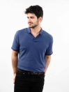 Navy Slim Fit Polo Collar T-Shirt