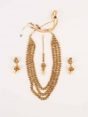 Spectacular Gold Plated Necklace Set