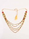 Astonish Gold Plated Multicolour Necklace Set