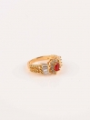 Traditionaly Gold plated Ruby Ring