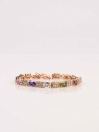 Charming Multicolour Gold plated Multi Zirconia Bracelet