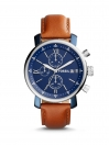 FOSSIL CHRONOGRAPH BROWN  LEATHER MEN WATCH