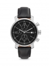 Fossil Rhett Chronograph Black Leather Men Watch