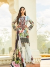 Multi Colored Printed 3 Piece Unstitched Suit