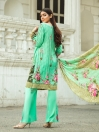 Light Green Printed 3 Piece Unstitched Suit