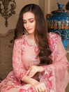 Pink Embroidered Chiffon 3 Piece Unstitched Suit