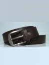Genuine Leather Casual Belt- Dark Brown