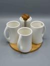 4 Pcs Mug Holder Tray