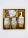 Bathroom Set MultiColor Fancy Design 4Pcs Set
