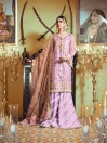 Multi Colored Embroidered Organza 3 Piece Unstitched Suit