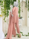 Peach Embroidered Unstitched Suit