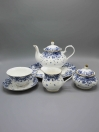 24 Pcs Blue and White Tea Set
