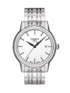Carson Quartz White Dial Grey Bracelet Men's Watch