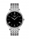 Tradition Quartz Black Dial Grey Bracelet Men's Watch