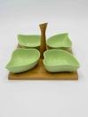 4 Pcs Leaf Shape Colorful Olive