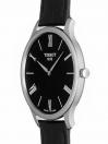 Tradition Quartz Black Dial Black Leather Strap Men's Watch