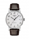 Every time Swissmatic Silver Dial Brown Leather Strap Men's Watch