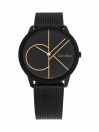 Minimal Quartz Black & Gold Colour Dial - Mesh Steel Bracelet Men's Watch