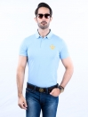 Game of Spartans Polo Shirt Light Blue