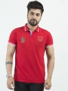 Red Combed cotton Polo Shirt