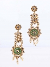 Polki Meena Work Earrings