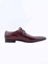 Burgundy Cow Leather Formal Shoes for Men