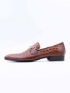 Brown Cow Leather Slip-Ons for Men