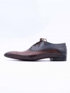 Dark Brown Cow Leather Formal Shoes for Men