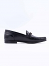 Black Cow Leather Formal  Slip-Ons for Men