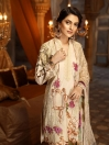 Skin Embroidered Cotton Satin Unstitched 3 Piece Suit