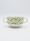 Star Art Soup Set Multi Color Ceramics 22Pcs with Metal Stand
