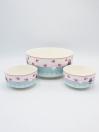 Multi Color Fancy Soup Set Ceramics 14Pcs