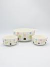 Multi Color Dotted Soup Set Ceramics 14Pcs