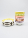 Multi Color Fancy Serving Set Ceramics 12Pcs