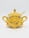 Gold Fancy Sugar Pot