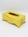 Golden Fancy Metal Tissue Box