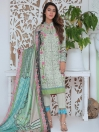 Multi Colored Digital Printed and Embroidered Linen Unstitched 3 Piece Suit