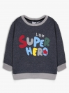 Little super hero Crew Neck