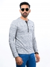 Mens Long Sleeve Henley