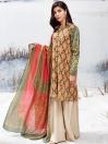 Light Green 2 Piece Khaddar Suit