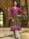 Pink Slub Khaddar Shirt